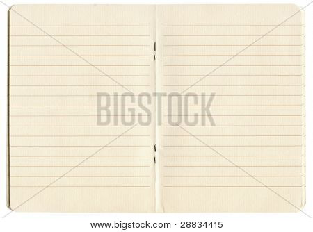 blank lined exercise book