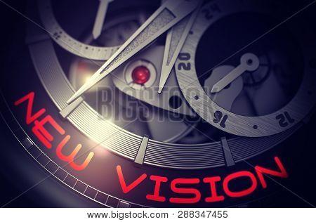 New Vision On Mechanical Wristwatch Mechanism. 3d.
