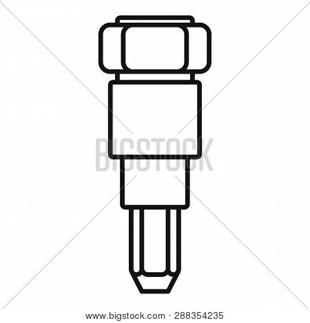 Car injector icon. Outline car injector icon for web design isolated on white background poster