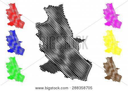 Nong Bua Lamphu Province (kingdom Of Thailand, Siam, Provinces Of Thailand) Map Vector Illustration,