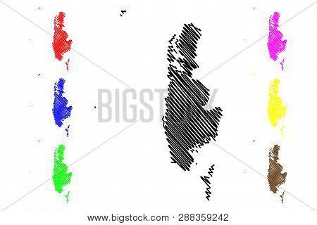 Phang Nga Province (kingdom Of Thailand, Siam, Provinces Of Thailand) Map Vector Illustration, Scrib