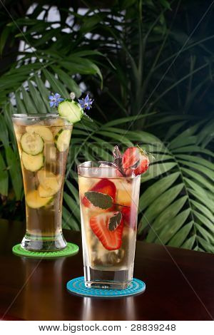 Strawberry Sage And Ginger Cucumber Iced Tea