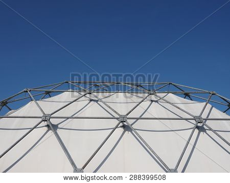 Geodesic Exoskeleton Tensile Dome Structure