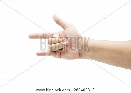 Love Sign Symbol From Human Hand Language On White Background. Isolated And Clipping Path.-image.