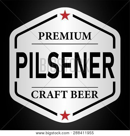 Premium Pilsener Craft Beer Lable Web Badge Icon