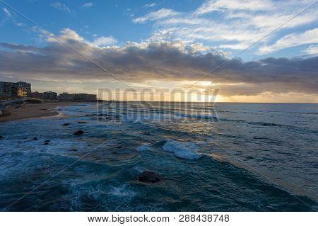 Sunrise At Newcastle Beach - Newcastle Nsw Australia