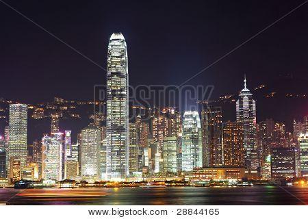 Hong Kong Skyline Nacht
