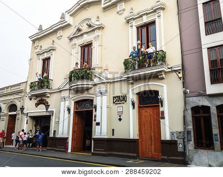 Lima, Peru January 24th, 2018 : Estadio Football Club Is A Thematic Restaurant, Unique In Its Kind,