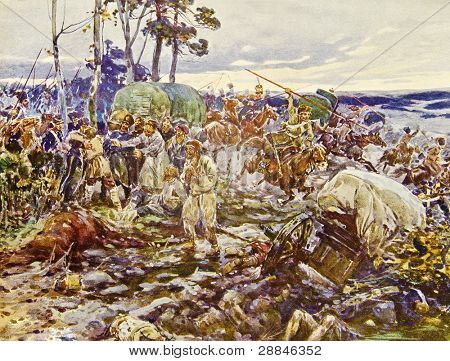 Battlefield - illustration by artist A.P. Apsit from book