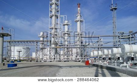 The Oil Refinery. Equipment For Primary Oil Refining.