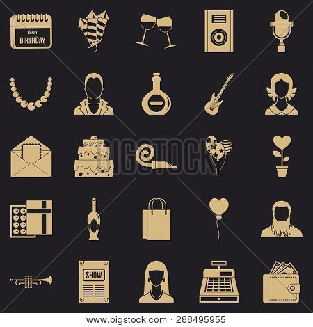 Discotheque Icons Set. Simple Set Of 25 Discotheque Vector Icons For Web For Any Design