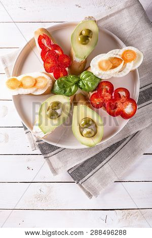 Sandwiches Prepared With Bread And Tasty Ingredients
