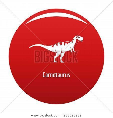 Carnotaurus Icon. Simple Illustration Of Carnotaurus Icon For Any Design Red
