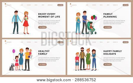 Composition Consist Of Webpage Template Enjoy Every Moment Of Life, Child Planning, Healthy Family,