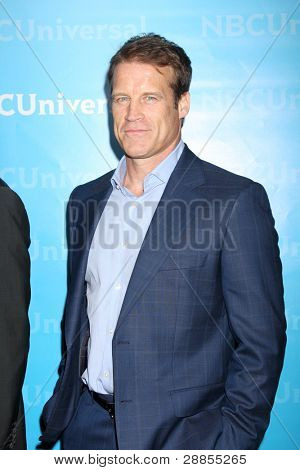 LOS ANGELES - JAN 6:  Mark Valley arrives at the NBC Universal All-Star Winter TCA Party at The Athenauem on January 6, 2012 in Pasadena, CA