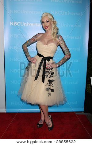 LOS ANGELES - JAN 6:  Sabina Kelley arrives at the NBC Universal All-Star Winter TCA Party at The Athenauem on January 6, 2012 in Pasadena, CA