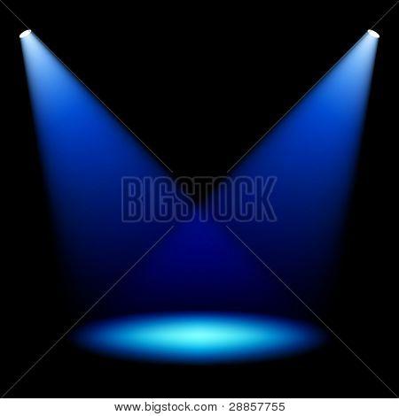 Stage spotlights. Vector.