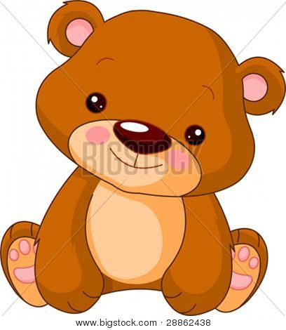 Fun zoo. Illustration of cute Bear