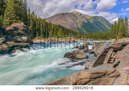 Numa Falls And The Vermillion River In Kootenay National Park. British Columbia. Canada
