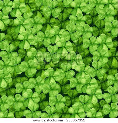 Saint Patrick Day Green Clover Pattern Background