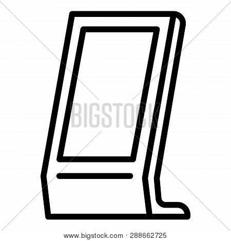 Street Payment Terminal Icon. Outline Street Payment Terminal Vector Icon For Web Design Isolated On