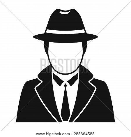 Police Detective Icon. Simple Illustration Of Police Detective Vector Icon For Web Design Isolated O