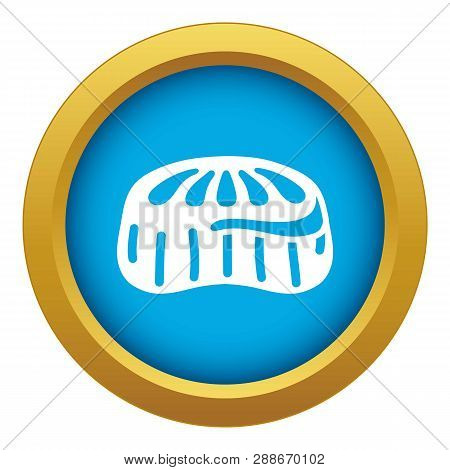 Candy Jelly Icon Blue Vector Isolated On White Background For Any Design