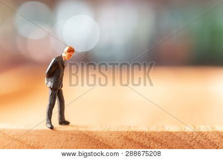 Businessman  Standing And Thinking With Colorfull Background.
