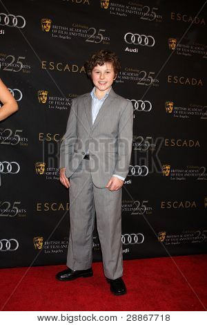 LOS ANGELES - JAN 14:  Nolan Gould arrives at  the BAFTA Award Season Tea Party 2012 at Four Seaons Hotel on January 14, 2012 in Beverly Hills, CA