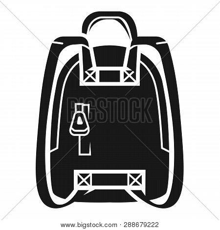 Knapsack Icon. Simple Illustration Of Knapsack Vector Icon For Web Design Isolated On White Backgrou