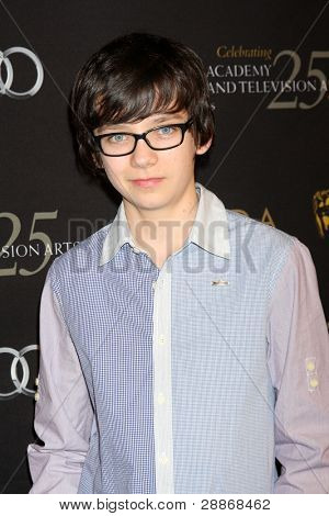 LOS ANGELES - JAN 14:  Asa Butterfield arrives at  the BAFTA Award Season Tea Party 2012 at Four Seaons Hotel on January 14, 2012 in Beverly Hills, CA