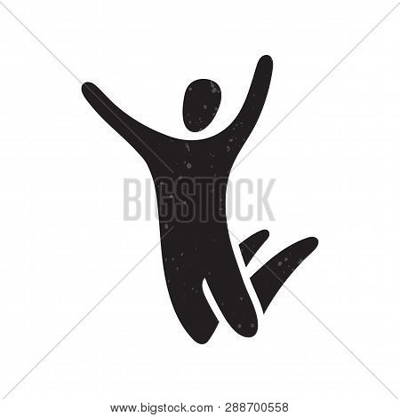 Vector Illustration Of Jumping People. Trampoline Park Concept.