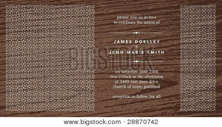 Vector Ornate Wood Frame. Easy to edit. Perfect for invitations or announcements.