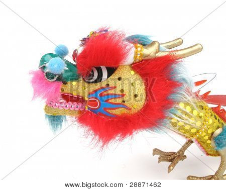 traditional dancing dragon isolated on white. Chinese New Year Decoration
