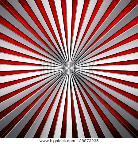 metal plate with ray pattern poster