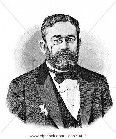 Privy Councillor A. Ermolov, managing the Ministry of State Property. Engraving by Shyubler. Published in magazine