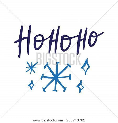 Christmas Hand Drawn Lettering Holiday Image. It Can Be Used As A Greeting Card, Print And Poster.