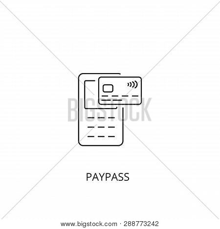 Paypass Vector Icon, Outline Style, Editable Stroke