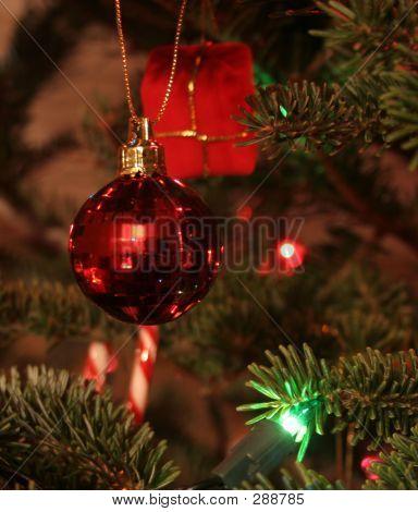 Red Bulb Christmas Ornament
