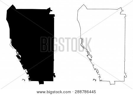Buffalo City (united States Cities, United States Of America, Usa City) Map Vector Illustration, Scr