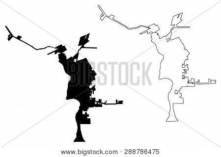Laredo City (united States Cities, United States Of America, Usa City) Map Vector Illustration, Scri