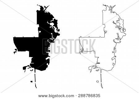 St. Petersburg City (united States Cities, United States Of America, Usa City) Map Vector Illustrati
