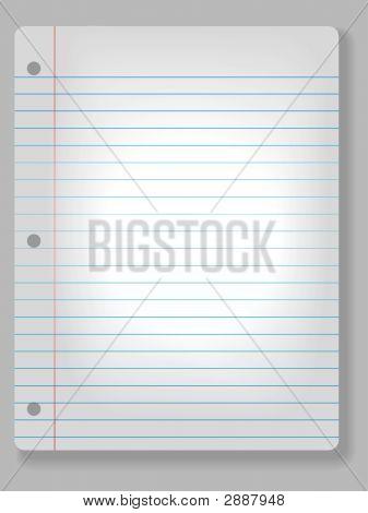 Spotlight Notebook Paper Background
