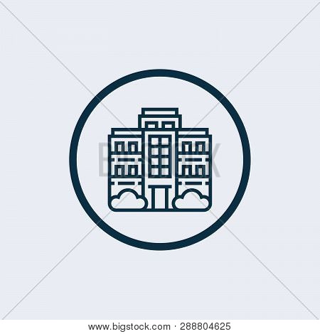 poster of Apartment icon isolated on white background. Apartment icon in trendy design style. Apartment vector icon modern and simple flat symbol for web site, mobile, logo, app, UI. Apartment icon vector illustration
