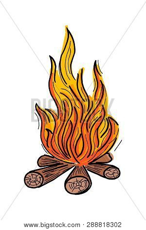 Campfire Icon Isolated On White Background. Campfire Icon Simple Sign. Campfire Icon Trendy And Mode