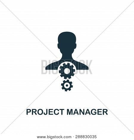 Project Manager Icon. Creative Element Design From Risk Management Icons Collection. Pixel Perfect P