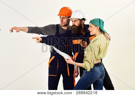 We Are The Construction Crew. People Working Together On Construction Design. Construction Workers T