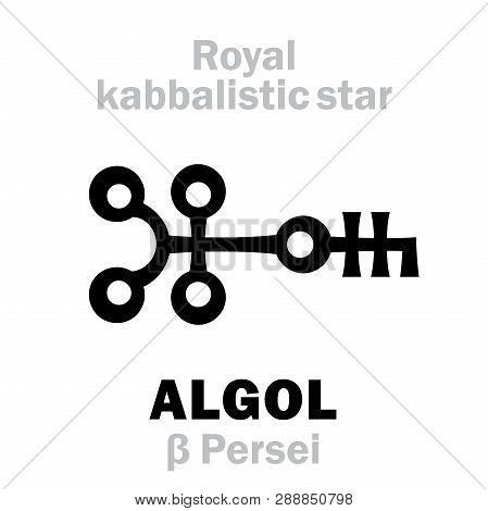 Astrology Alphabet: Algol (beta Persei / Gorgona), Caput Larvae (the Eye Of The Gorgon), Oth.name: D