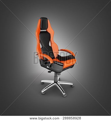 Modern Office Chair Isolated On Black Gradient Background 3d Render