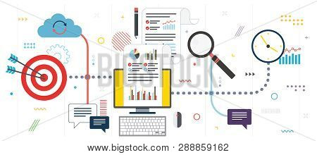 Marketing, Analytics And Strategy In Business. Data Analysis, Digital Marketing And Business Marketi